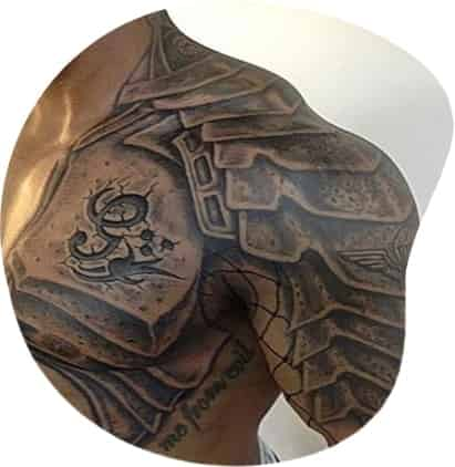 whole body cover with tattoo
