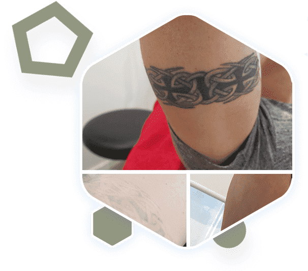 a man having tattoo on muscles